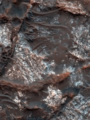 Bedrock Wallpaper (sjrankin) Tags: wallpaper mars edited background nasa crater tablet bedrock retina mro craterfloor retinaresolution 10april2013