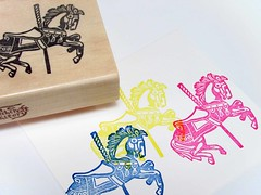 Merry-Go-Round Hand Carved Stamp (