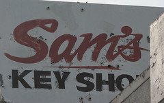 Sams Key Shop-Old Sign-Fresno-California (ArtApril) Tags: california signs canon outthewindow grabshots phototrips samskeyshop
