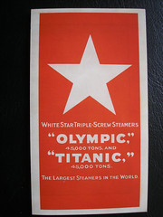 Olympic & Titanic Ad. 1912. (Jimmy Big Potatoes) Tags: disaster titanic atlanticocean oceanliner rmstitanic