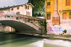 Padua night sesh #1 - Connection (MetzHC) Tags: city longexposure nightphotography bridge homes urban building night photoshop nikon tripod padova padua veneto