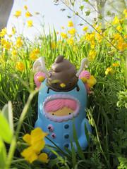 Shirley Creamhorn & Shithawk - blue version (mambanegra86) Tags: blue primavera spring vinyl handpainted figure limitededition vinilo arttoy arttoys figura jamfactory gavinstrange shirleycreamhorn