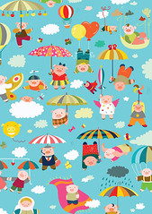 When Pigs Will Fly (Adina C) Tags: cute illustration colorful vector cuteanimals childrenillustration contemporaryillustration freelanceillustrator