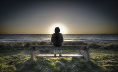 Relax and slow down (Marc Clack) Tags: sunset sea sun beach wales bench hdr tamaron 1024mm nikond7000
