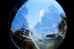 Mumbai Fisheye (raspberry dolly) Tags: india film lomography fisheye mumbai lomofisheye