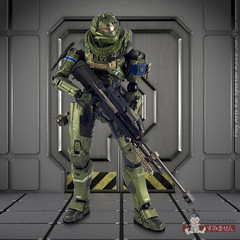 Play Arts Kai Jun (Halo Reach) (Sumimasen) Tags: canon play arts halo kai reach modo luxology