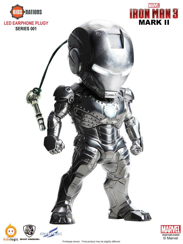 Kids Logic X 野獸國玩具 - 鋼鐵人造型手機防塵塞吊飾