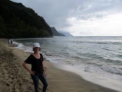 On Ke'e Beach (Canadian Veggie) Tags: vacation beach hawaii emily trail kauai kalalau haena keebeach napalicoast kalalautrail haenastatepark