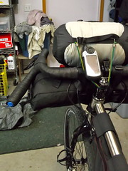 Fargo Bikepacking prep (Doug in Idaho) Tags: trip camping bicycle spring tour seat pack april handlebar bags luxy salsa titanium ti fargo bedrock ragley 2013 revelate drg53113pbikeprep drgbedrockhandlebarbag