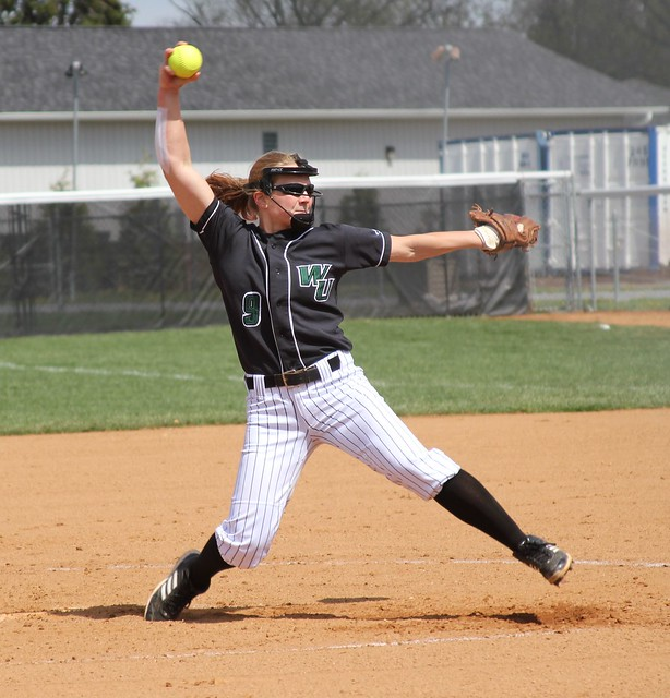 Senior Katie Warrington tied her season high with 17 strikeouts on Saturday, improving to 14-3 on the year with a win in game two against Nyack. Copyright 2013; Wilmington University. All rights reserved.
