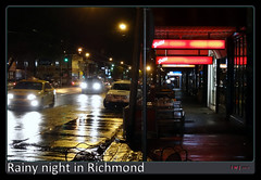 Wet Night, Bridge Road, Richmond. (fotograf1v2) Tags: nightphotography reflections traffic restaurants australia melbourne headlights victoria streetscape wetstreet rainyweather streetdining innercitysuburb bridgeroadrichmond nightsignage
