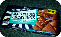 Dairy Milk Marvellous Creations Cookie Nut Crunch (LotOChoc) Tags: cookie sweet chocolate almond biscuit nut cadburys hazelnut dairymilk chocolatereview marvellouscreations