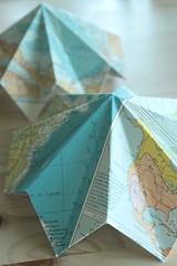 113/365 world diamond (SarahLaBu) Tags: paper origami map diamond 365 folding day113 day113365 3652013 2013yip 365the2013edition 23apr13