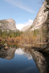 Mirror Lake 1 (Elentari86) Tags: california usa mountains reflection america mirror nationalpark scenery sierra halfdome yosemitenationalpark mountwatkins ahwiyahpoint