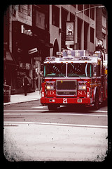 #21 (DHaug) Tags: new york city red truck fire march 21 manhattan engine fdny seagrave theatredistrict 2013