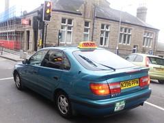 TAXI !,PENZANCE APRIL 2013. (RUSTDREAMER.) Tags: cornwall taxi carina toyota penzance minicab 1093 bangernomics rustdreamer