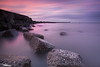 Low Tide (Dave Brightwell) Tags: longexposure pink sunset sea lighthouse seascape clouds canon pier lowlight rocks tide northsea northeast redsnapper seaham bwnd davebrightwell