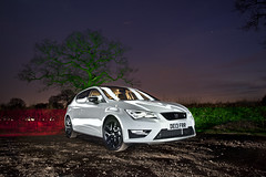 Seat Leon FR ([Nocturne]) Tags: light white lightpainting black tree cars stars seat leon fr nocturne stance seatleon noctography wwwnoctographycouk new2013