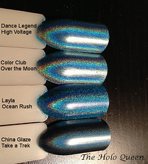 Comparison Swatch Sticks - Teal/Turquoise (Golden Ankh) Tags: swatch sticks holographic holo swatchstickscomparisons holocomparisons