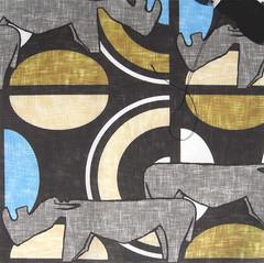 'Rhinos and waterholes': swatch on basic combed cotton (Su_G) Tags: africa blue animals swatch beige gray caramel rhinos rhinoceros kuba zaire darkgray waterholes sug rhinoceroses spoonflower linenweave africaninspired basiccombedcotton rhinosandwaterholes kubainspired kubapeoples
