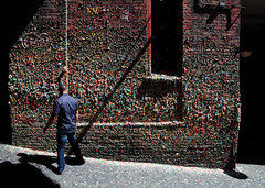 Gum guy (vibrant_art) Tags: seattle street art wall kids gum washington colours sticky playful postalley