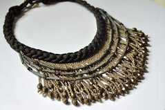 african fringe necklace (methodjewelry) Tags: ceramic necklace handmade fringe jewelry egyptian brass braided fringenecklace statementjewelry methodjewelry