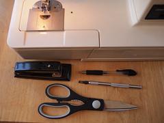 Tools for Grocery Feedbag (connors934) Tags: bag sewing jpg recycling feedbag reuse groceryfeedbag