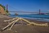 Kirby Cove Drift Tree (HavCanon.WillTravel) Tags: ocean sanfrancisco beach canon sand pacific driftwood goldengatebridge hdr marinheadlands mkii kirbycove fdrtools