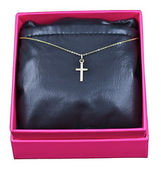 14k Gold Cross Necklace (jcojewelry) Tags: gold necklace women cross jewelry charm 14k pendant necklaces goldcross giftsforwomen goldcrossnecklace