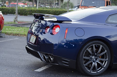 Nissan GTR Rear (Brett Levin Photography) Tags: show blue car university nissan florida south rear towers r end gt rims davie exhaust rearend gtr tailights 595 sfla