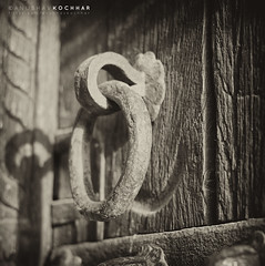 Old Gate Latch (Anubhav Kochhar) Tags: door old blackandwhite bw heritage canon eos 50mm gate delhi tomb ring archeology ef latch humayuns histry niftyfifty 60d