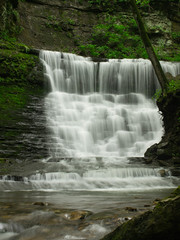 Jackson Falls (Joe Rogers) Tags: water woodland lumix waterfall moss g trace falls jackson panasonic parkway natchez vario 45150 gx1