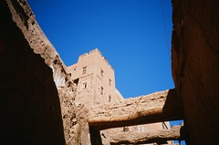 Sahara Tour, Morocco (ChihPing) Tags: blue sahara tour village desert minolta kodak morocco berber e100vs tc1