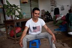 Dude Sports a Polo Sport American Flag T-Shirt in Kon Tum Province, Vietnam (ChrisGoldN