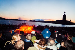 Walpurgis Night [explored] (Fredrik Forsberg) Tags: people fire sweden stockholm folk crowd eld riddarholmen walpurgisnight valborgsmssoafton brasa explored panasoniclx3