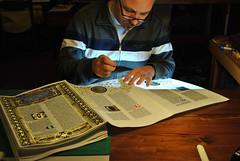 rilegatura della genesi 1 (ziggiotti ivano (Ziggy Stardust)) Tags: miniature illumination calligraphy manuscript calligrafia miniatura genesi manoscritto pergamena arsilluminandi