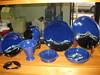 Satin Sky Blue (potterysue) Tags: ceramics pottery raku chloride mamo shino horsehair hinckley ferric tenmoku