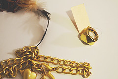 favorite things (shacsimon) Tags: gold feathers jewelry favoritethings