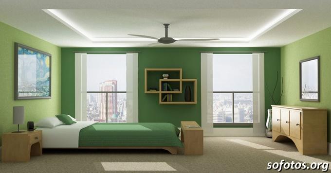quarto de casal verde