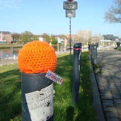 Orange (yarnitic) Tags: crochet crocheting hkeln guerillaknitting guerrillaknitting yarnbombing yarnbomb