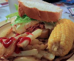 Dinner (anakiwa_forever) Tags: newzealand home dinner corn sandwich chips wellington giveusyourbestshot 522013week18