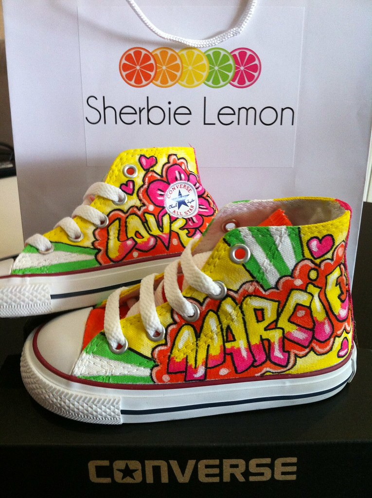 89ed3f00f858f8 custom graffiti converse (Sherbie lemon) Tags  graffiti lemon shoes hand  painted gift converse