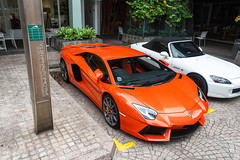 Wings up! (V12Khan | Photography) Tags: up singapore wing lamborghini arancio aventador lp7004