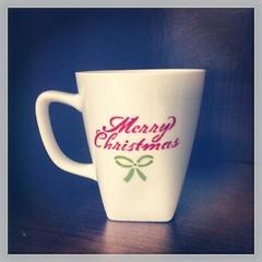 Etsy- Merry Christmas Mug $9 (Painted Pretty Designs) Tags: santa christmas xmas eve red white green cup kitchen shop mugs cream gift bow mug merry etsy jolly decor seller houseware buyer