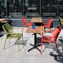 waiting (dan.boss) Tags: barcode bjrvika oslo norway chairs table square stock text