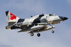 Untitled,  McDonnell Douglas A-4N Skyhawk, N163EM. (M. Leith Photography) Tags: untitled mcdonnelldouglasa4nskyhawk n163em lasvegasnellisafbklsv nevada usa25thjuly2016 aviation skyhawk a4 canadian nellis sunny hot sunshine jet fast plane outdoor military markleithphotography 70200vrii nikkor 300mmf4
