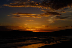 Compton Bay Sunset (Ben Pugh) Tags: sun velvia isleofwight sea sunset fujifilm xpro2