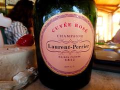 Birthday Bubbly 2016 (RobW_) Tags: champagne sparkling wine bottle label laurentperrier cuve ros freddiesbar tsilivi zakynthos greece wednesday 10aug2016 august 2016