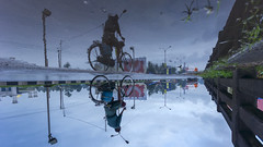 Bicycle Stories (Vilvesh) Tags: cwc chennaiweekendclickers travel travelwalk monsoon weather nature rain rainisbeautiful whenitrains people reflection canon sigma1020mm wideangle wideanglelens kerala godsowncountry road streetlight streets