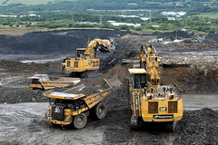 Caterpillar equipment! (Falippo) Tags: occs towercolliery hargreaves caterpillar cat mining miniera mine shovel excavator escavatore digger dumper monster coal carbone cava galles wales